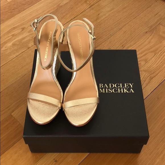 23a663a7e20 FINAL CALL!!! adgley Mischka gold platform sandals